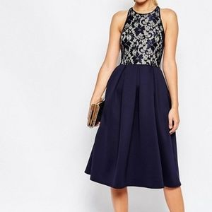 ASOS Lace Scuba Skater Dress